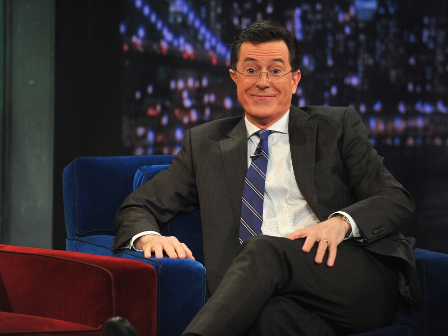 Stephen Colbert: He's moving on up, from basic cable to the big time.