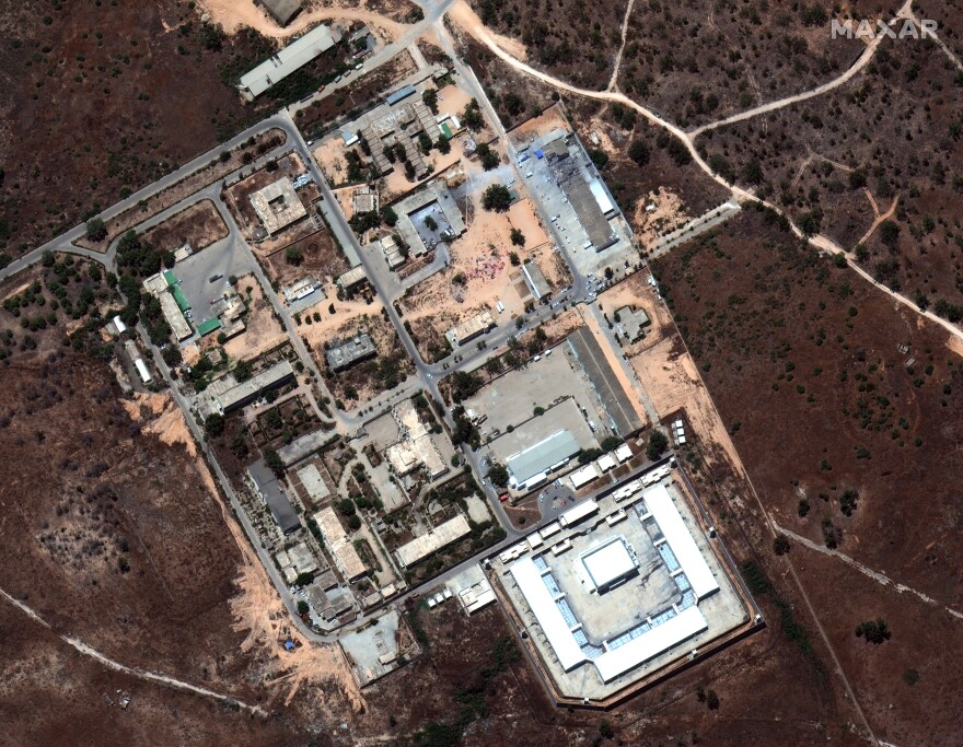 Satellite imagery of the Tajoura Detention Center after it was hit by airstrikes in Libya.