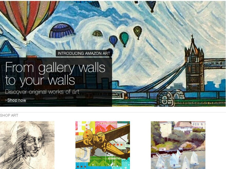 Amazon said its new art marketplace will provide access to more than 40,000 works of art from at least 150 galleries and dealers.