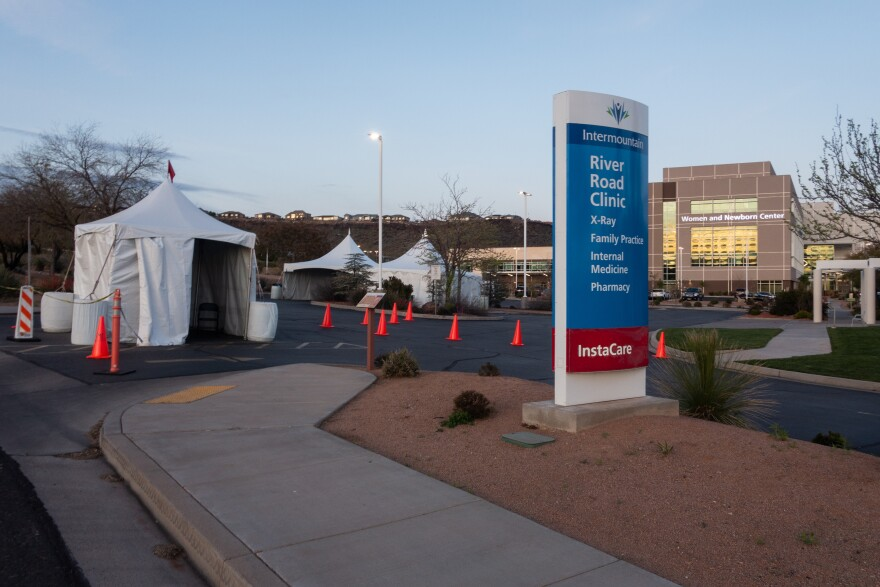 A photo of the entrance to Dixie Regional Medical Center.
