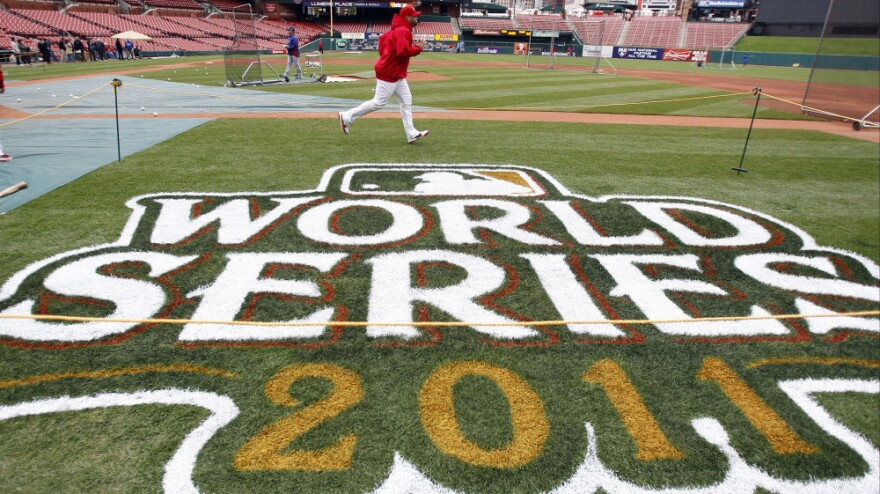 <p>Tuesday: St. Louis Cardinals' Albert Pujols runs during practice for Game 1 of baseball's World Series against the Texas Rangers in St. Louis.</p>
