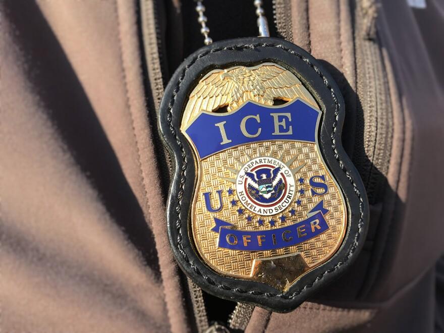 Immigration enforcement badge.