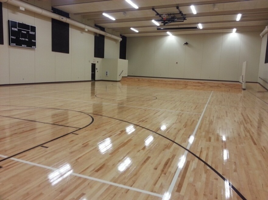 Many school safe rooms, like this one inside Jeffries Elementary in Springfield, Mo., also serve as gymnasiums. Constructed with a $1.6 million grant from FEMA, which covered 75 percent of the cost, the shelter can hold more than 500 people — enough to accommodate all the school's students and employees.