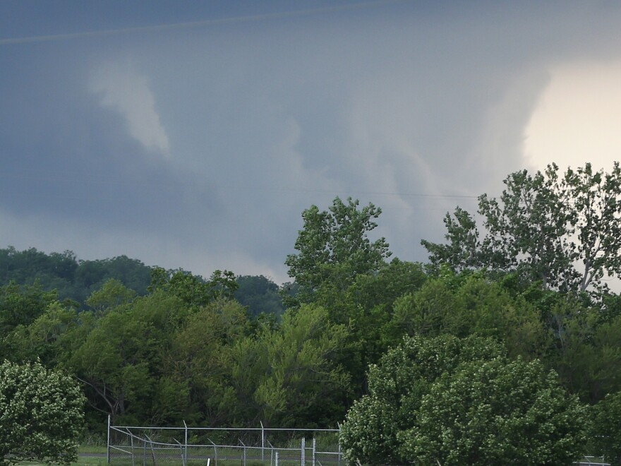 A severe thunderstorm moves through suburban Oklahoma City in May. A deep drought was broken by the storms this spring, but they also brought flooding and lowered the quality of the wheat harvest.
