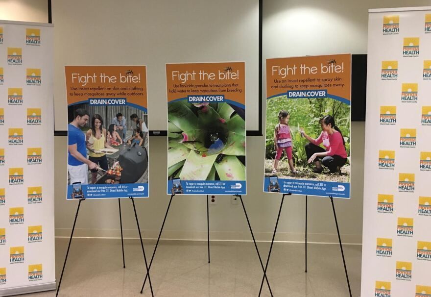 """Fight the Bite,"" a public awareness campaign to help prevent the Zika virus."