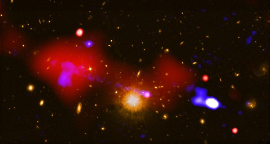 a photo of a black hole