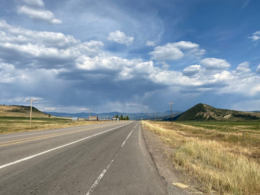 A two-lane highway connects the Colorado towns of Craig and Steamboat Springs, a part of the state famous for elk hunting. Communities like these have high rates of suicide and gun ownership.