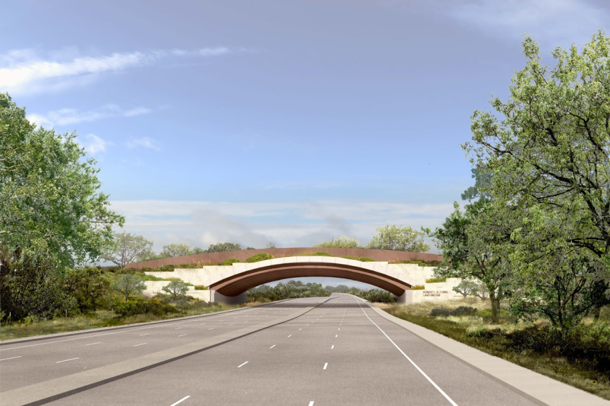 A rendering of the Robert L.B. Tobin Land Bridge at Hardberger Park.