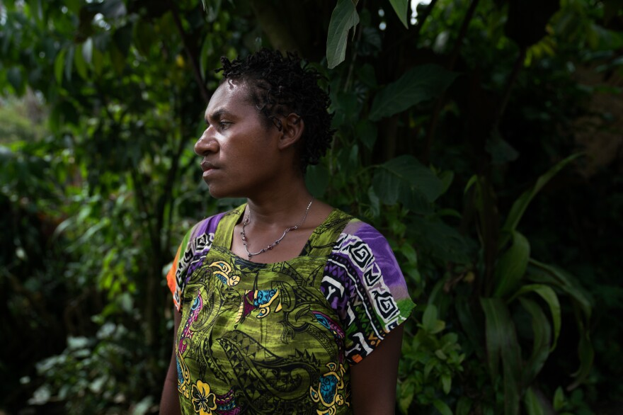 Patty, a 27-year-old betel nut seller in Goroka, says her husband is unemployed and sometimes steals the income she earns.