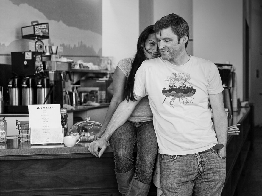 Matt and Anya Schodorf own Café de Leche in Highland Park. Anya likes to joke that she's the café and Matt is the leche.