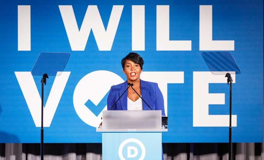 Atlanta Mayor Keisha Lance Bottoms addresses a Democratic National Committee event in June 2019 in Atlanta. The mayor is considered a contender for Joe Biden's vice presidential pick.
