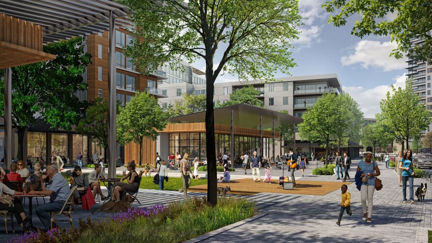 """A rendering of the planned """"Ballantyne Reimagined"""" project."""