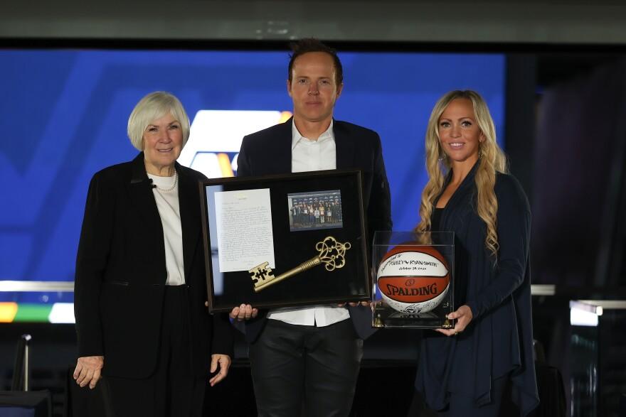 Gail Miller announces the majority sale of the Utah Jazz to Ryan Smith
