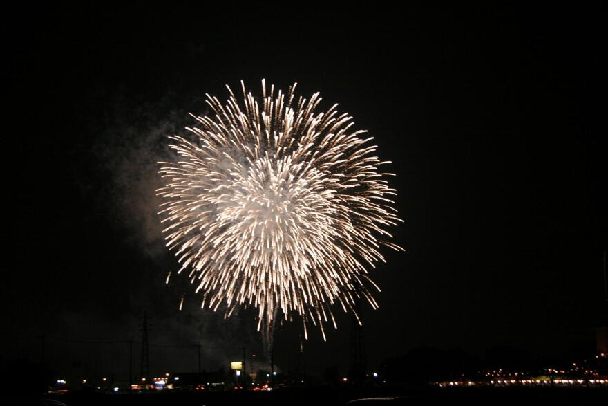 a photo of fireworks