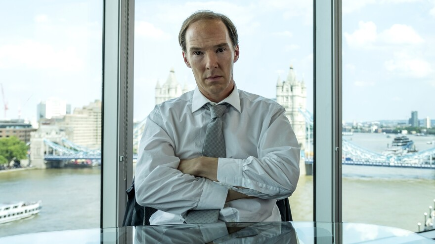 "Benedict Cumberbatch plays Dominic Cummings, the top strategist for Britain's ""Leave"" campaign in the HBO film <em>Brexit</em>."