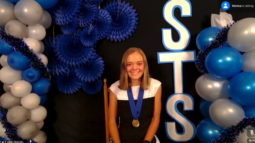 Lillian Kay Petersen, 17, from Los Alamos, N.M., won first place in the 2020 Regeneron Science Talent Search, a science and math competition for high school seniors. The pandemic meant a virtual Zoom ceremony rather than what's usually a black-tie gala ceremony in the nation's capital.