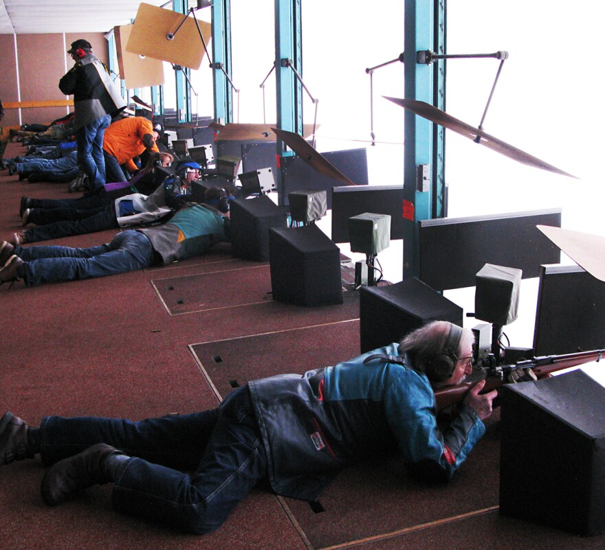 Gun enthusiasts take part in a shooting competition at a club outside Zurich. The gun culture is deeply entrenched in Switzerland, where citizens as young as 10 learn to shoot.