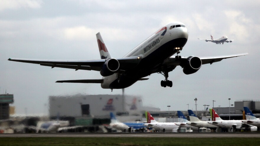 A British Airways plane departs London's Heathrow Airport in 2010. Earlier this month, a British Airways plane was hit by an unidentified object but landed safely at Heathrow.
