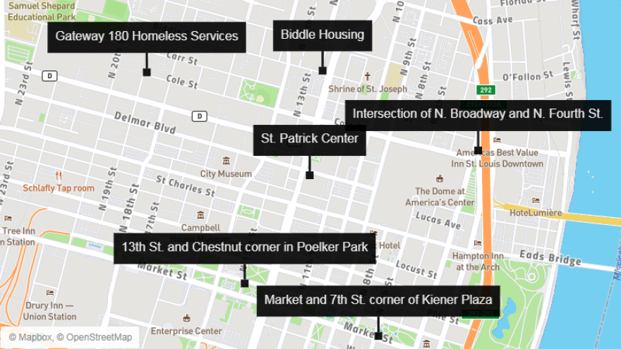 Map of public hand washing stations for people who are homeless during the closures caused by coronavirus. 3/19/20