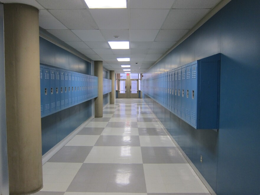 Bowie High School hallway by by Nathan Bernier_0.JPG