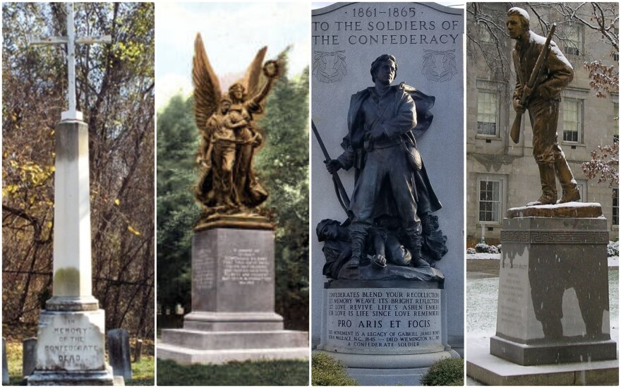 These monuments from Fayetteville, Salisbury, Wilmington and Raleigh were removed from their original locations after the death of George Floyd.