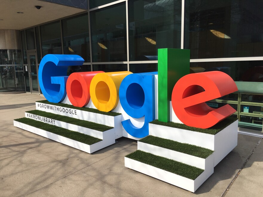 photo of Google sign