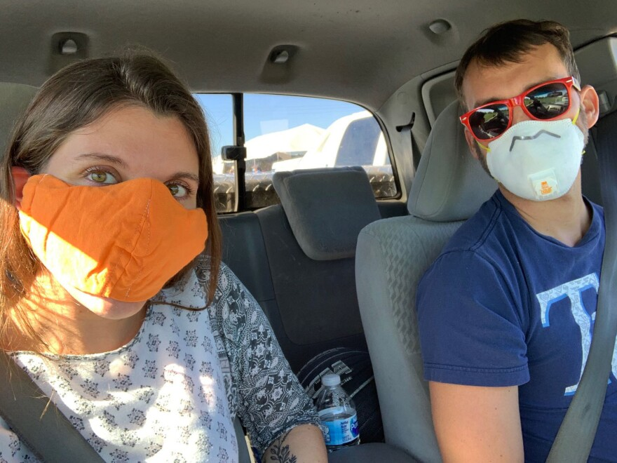 My boyfriend and I got tested for COVID-19 at one of Hillsborough County's drive-thru testing sites to see if we were asymptomatic.