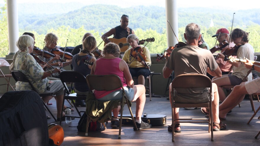 Students jam at one of the Augusta Heritage Center's themed, week-long summer music camps.