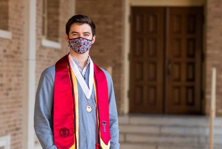 Texas Tech University senior Klay Davis is thrilled he'll have the chance to graduate college in person this December. But faculty across the state are concerned large in-person commencements could become super spreader events for COVID-19.