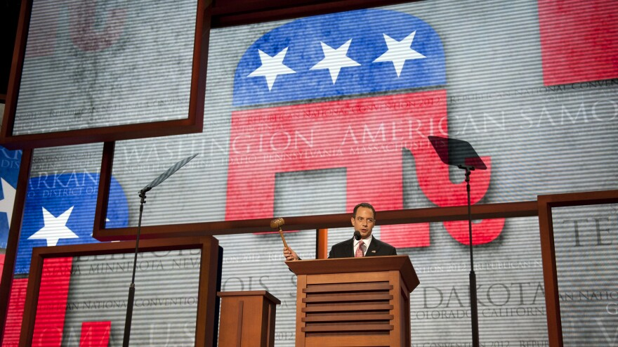 Republican National Committee Chairman Reince Priebus opens last year's convention in Tampa, Fla., on Aug. 27.