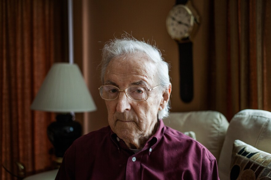 World War II veteran Charles Cavell — a test subject in the military's secret mustard gas experiments — at his home in Virginia.