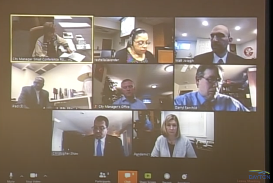 The Dayton City Commission met remotely on April 22, 2020.