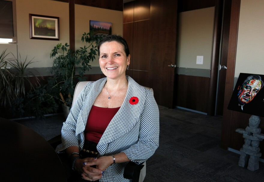 Mayor Melissa Blake, Regional Municipality of Wood Buffalo, says the area's growth has slowed amid falling oil prices.