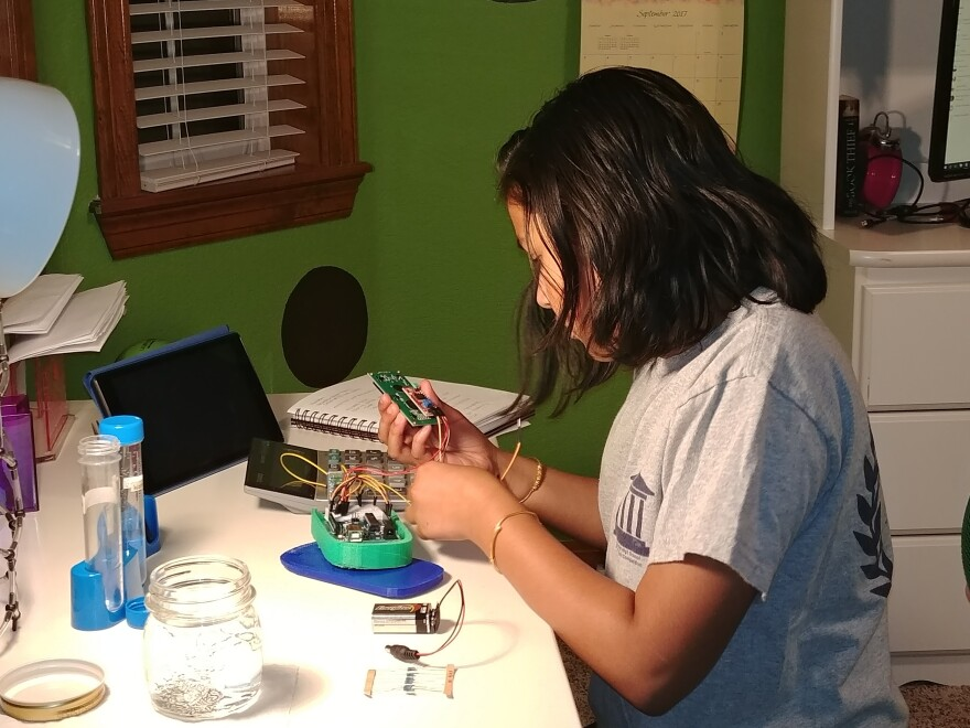 "To make her device, Rao pressed local high schools and universities to give her lab time and then hunkered down in the ""science room"" — outfitted with a big white table — that she persuaded her engineer parents to create in their home in Lone Tree, Colo."