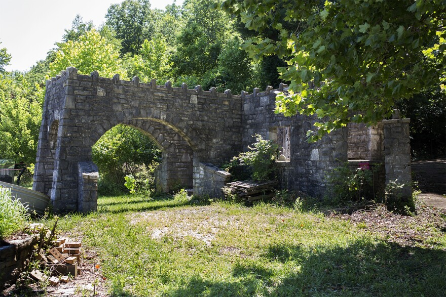 The ruins of the Lone Wolf Club, a former speakeasy during Prohibition, stand on the property of the Wildlife Rescue Center in Ballwin.