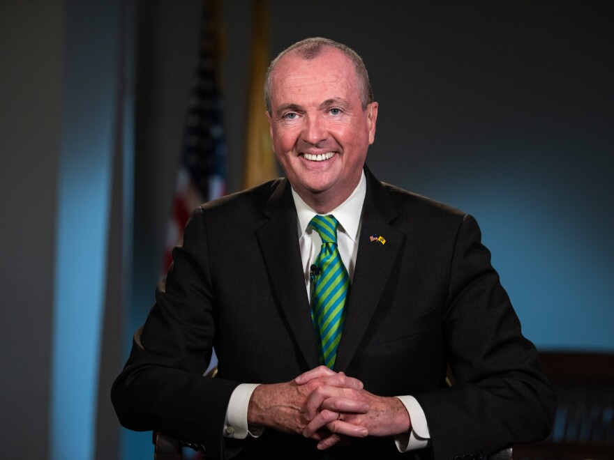 "Gov. Phil Murphy, pictured in March, signed two bills on Wednesday ensuring that former felons can ""once again walk into a voting booth and have a say in our democracy."""