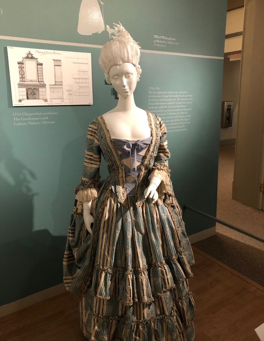 A picture of a silk gown.