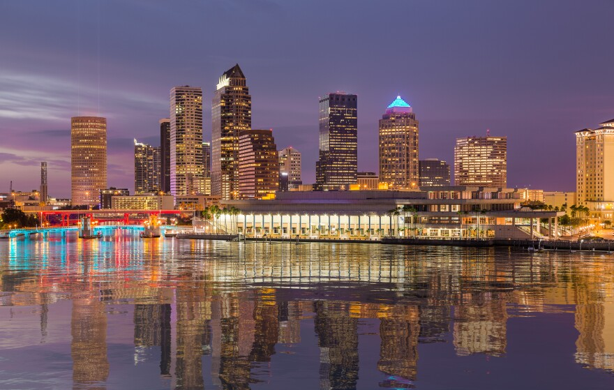 Tampa skyline, and Tampa Convention Center