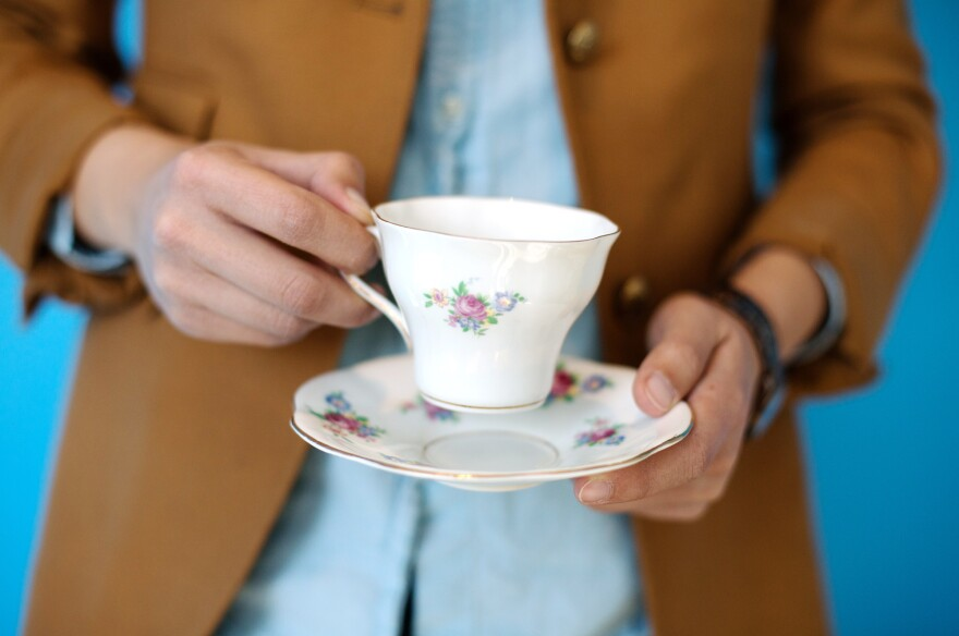 The perfect cup of tea, prepared by Alison Bruzek.
