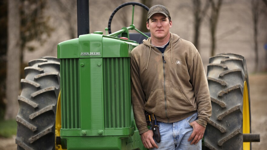 David Loberg's family farm in Carroll, Neb., is featured in the film <em>Farmland</em>.