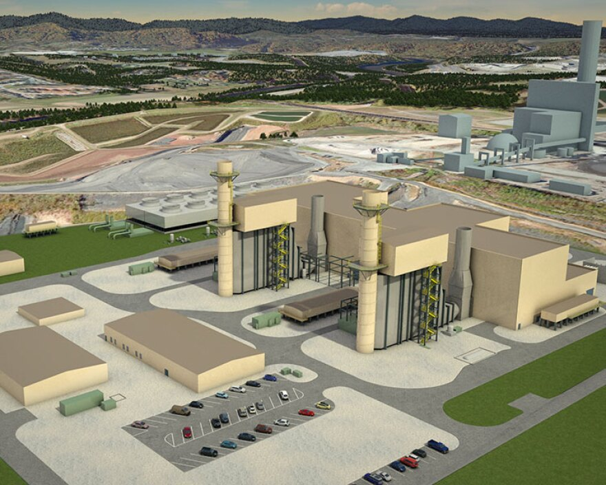Duke Energy hopes to replace its Asheville coal-fired power plant with this gas plant later this year.
