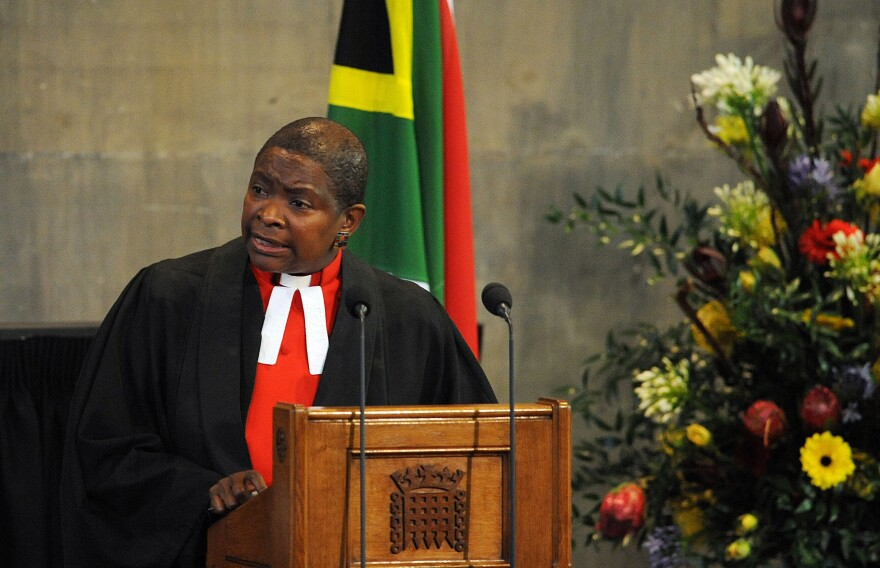 Hudson-Wilkin speaks at a celebration of the life of Nelson Mandela held at the House of Commons on Dec. 12, 2013.