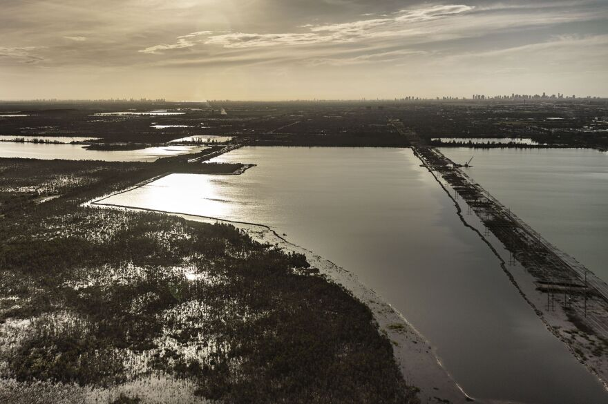 The county rests on the Biscayne Aquifer, which is so shallow the water seeps up through the ground.