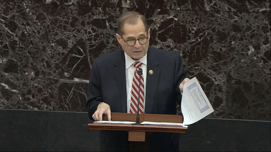 House impeachment manager Rep. Jerrold Nadler, D-N.Y., laid out what he called the legal theory for impeachment as the House is pursuing it.