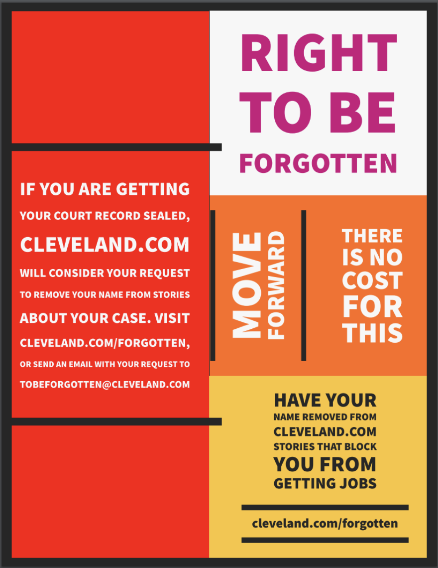 Cleveland.com is spreading the word that it will consider removing stories that may be keeping people from moving on with their lives.