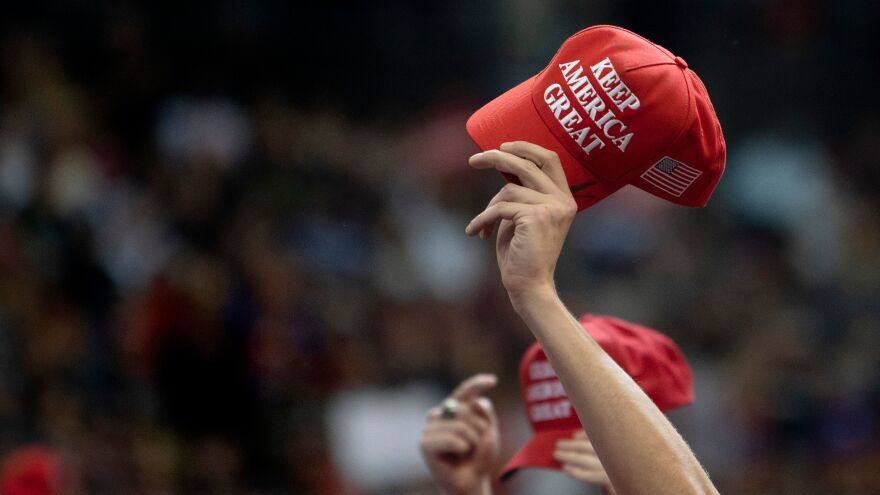 The Make America Great Again hat remains the top-selling item in the Trump campaign store, followed by the newer Keep America Great hat.