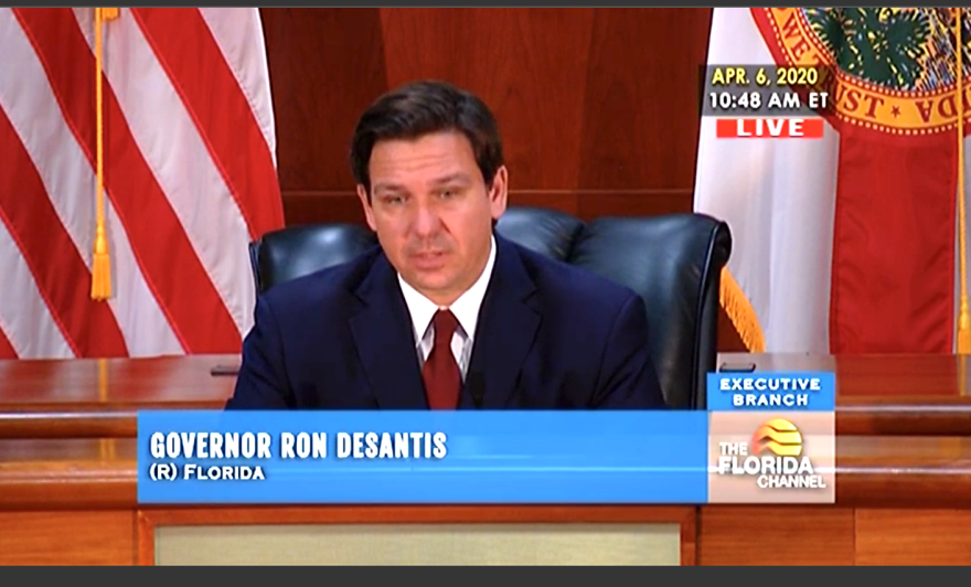 Gov. Ron DeSantis said Monday the state has dramatically increased the capacity of its unemployment benefits website.