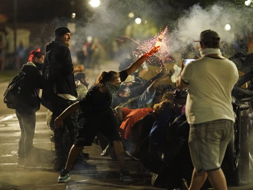 Demonstrations sparked after the police shooting of a Black man, Jacob Blake, continued in Kenosha, Wis., on Tuesday. The third night of the protests turned deadly with the fatal shootings of two Kenosha-area residents.