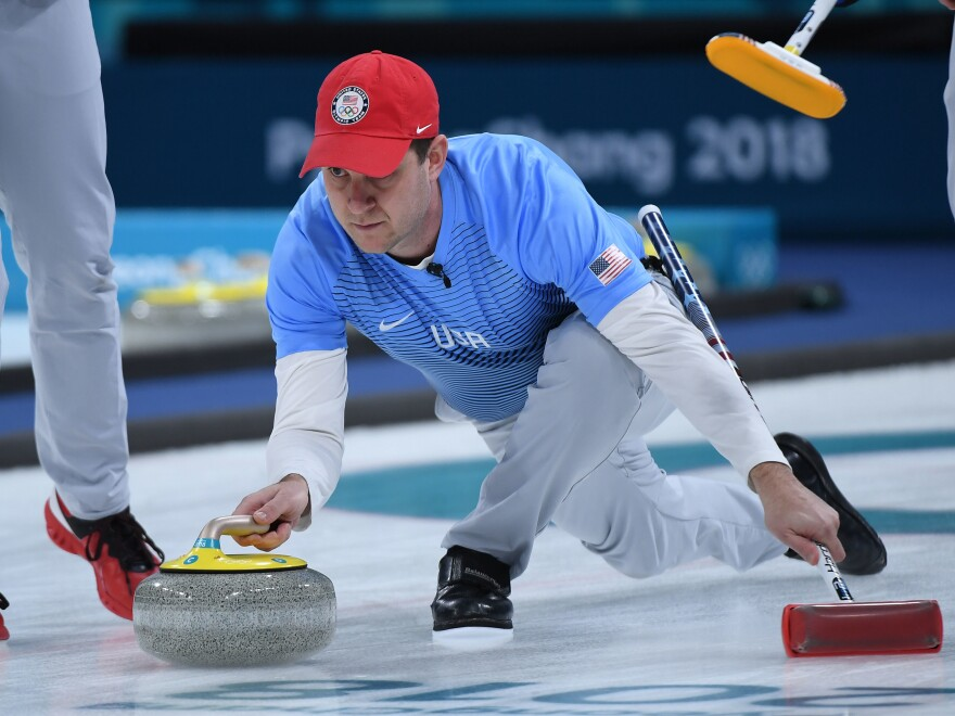 U.S. curling skipper John Shuster led the Americans to a 10-7 victory in their gold medal game against Sweden at the Pyeongchang 2018 Winter Olympics.