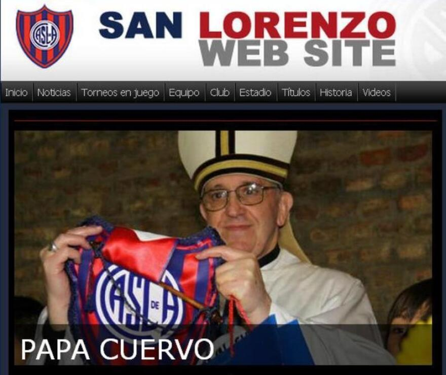 """The San Lorenzo football club is very excited to have """"Papa Crow"""" on its side."""